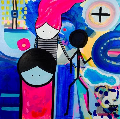 """""""Outro Caminho"""" 100cm x 100cm Tinta acrílica sobre tele. 2016 (Disponível na Galeria Dom Quixote)"""